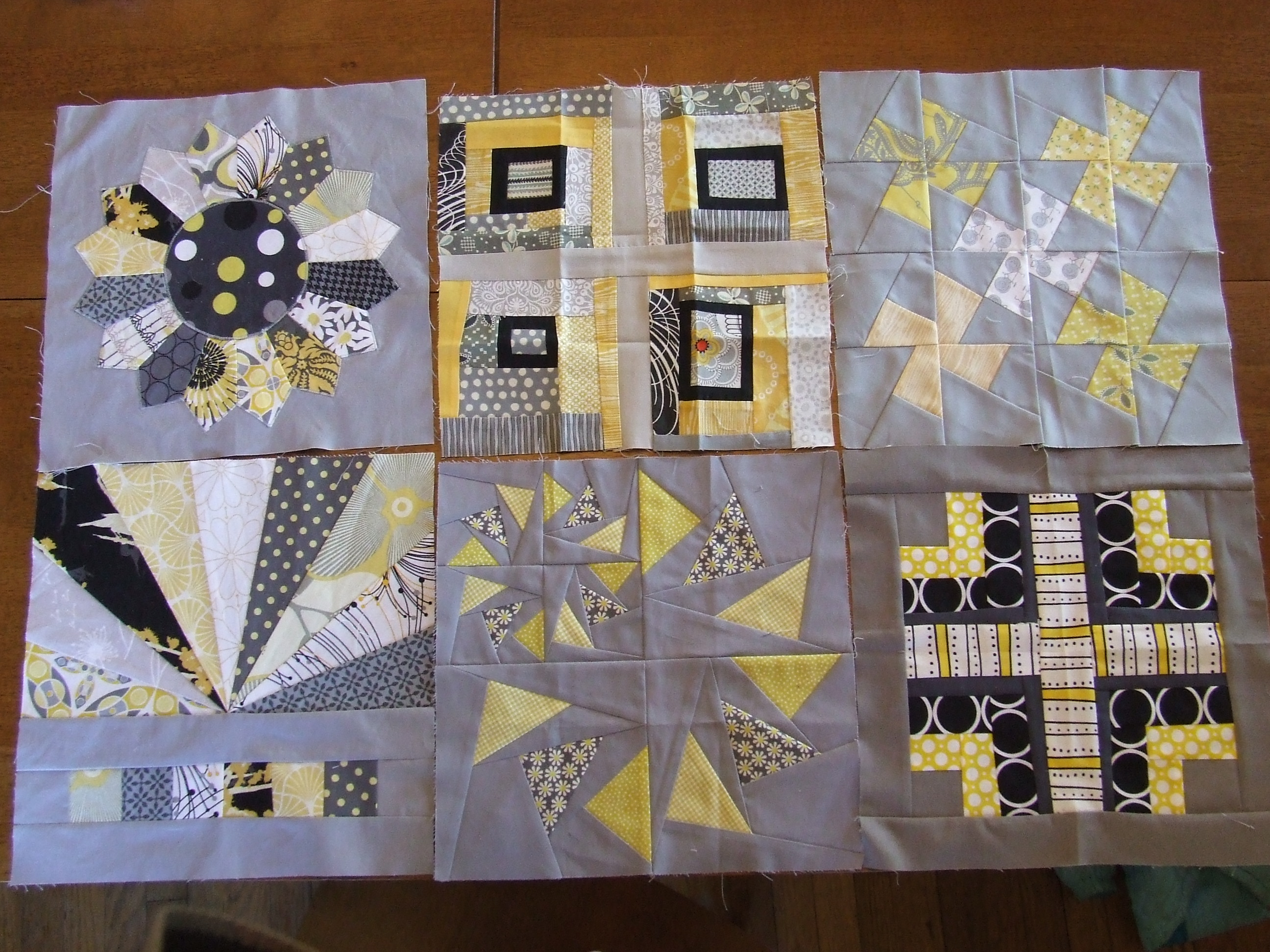 4x5 Quilt Bee, received blocks, 2011 Q4 + my additions