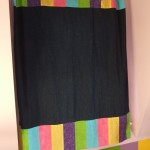 Color block tab-top curtains