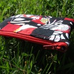 Small patchwork zippered pouch