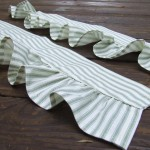 Ruffled curtain tie backs