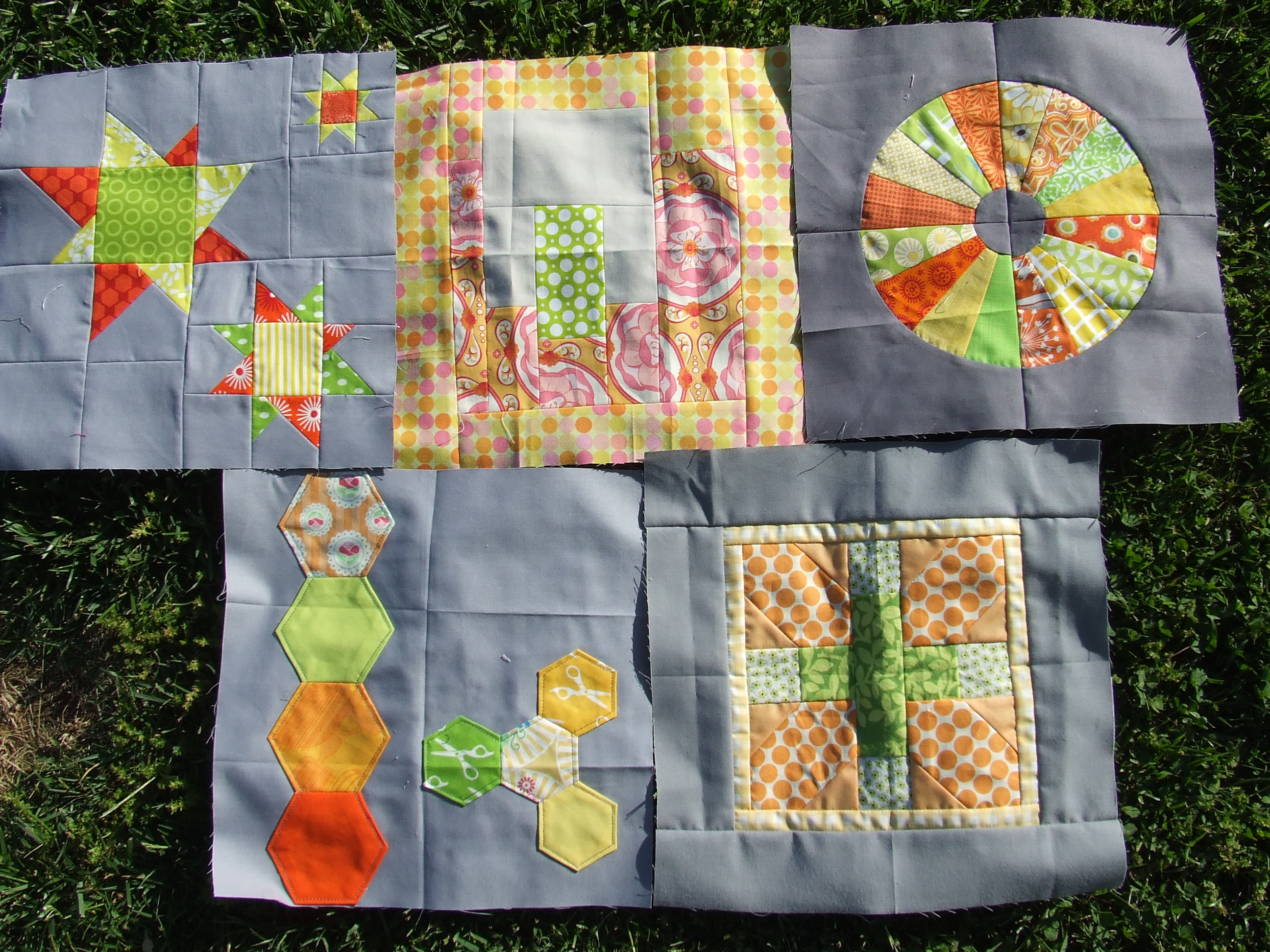 4x5 modern quilt bee quarter 1 received blocks