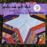 12.5 spider web quilt block tutorial