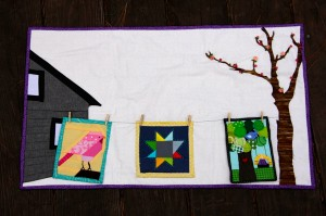mini quilt with quilts