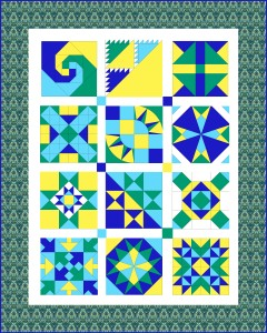 Road Trip Quilt Along sampler quilt 2013