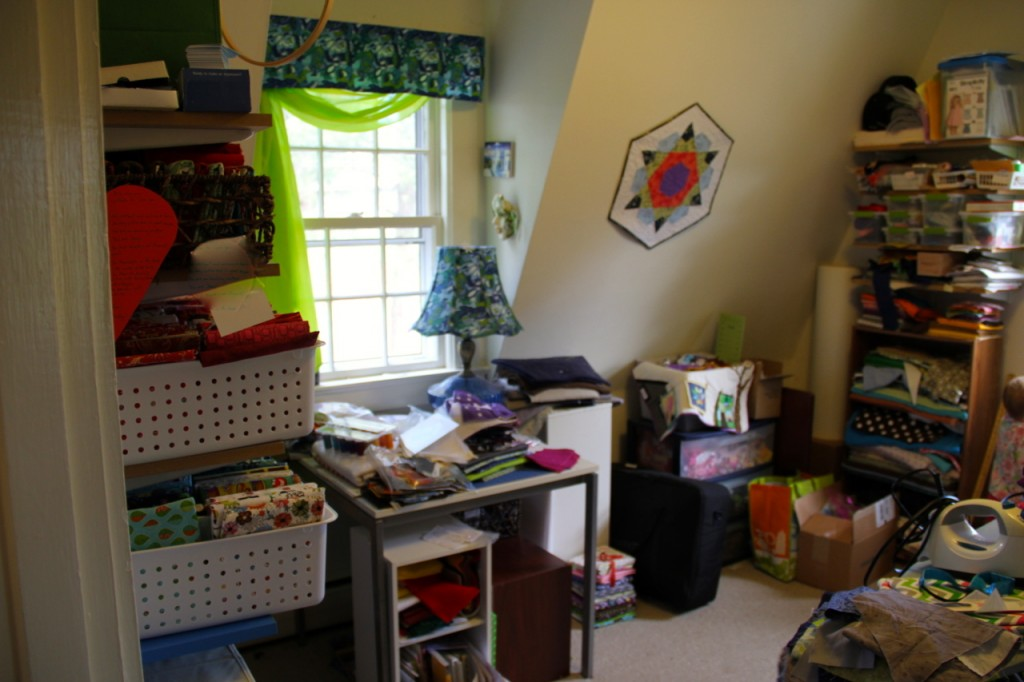 Sewing Room Clean Up Along - The Before