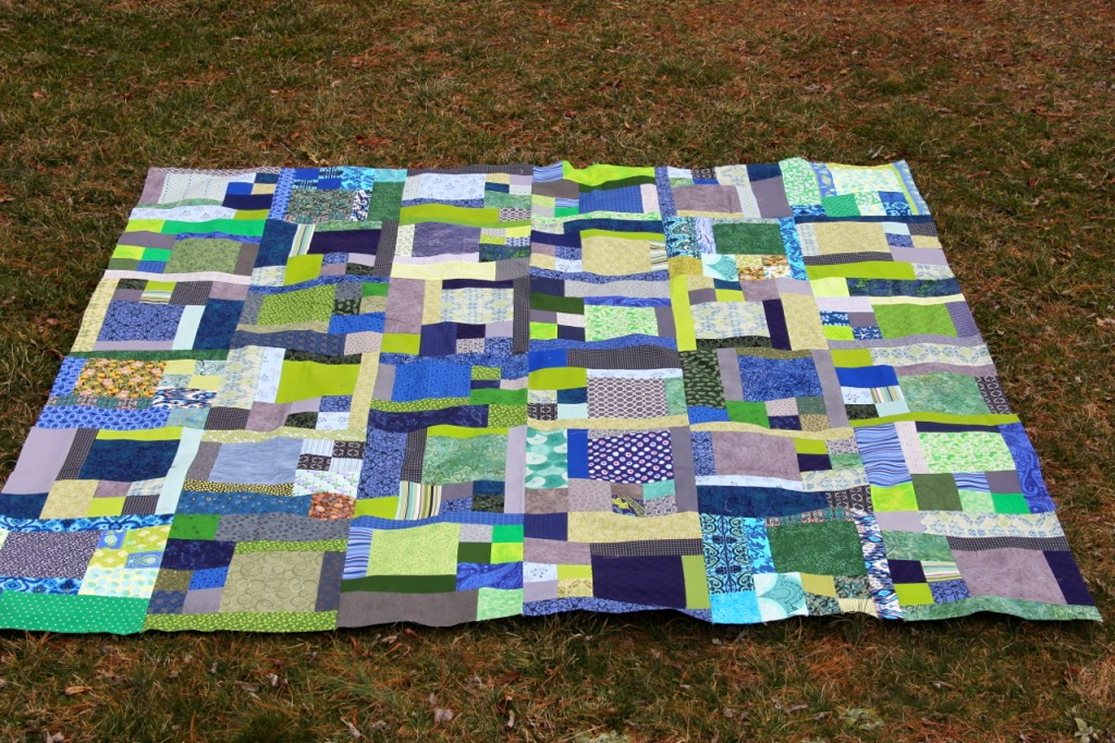 Brian's quilt top: turning twenty again