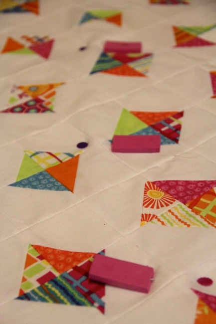 baste a quilt with craft foam