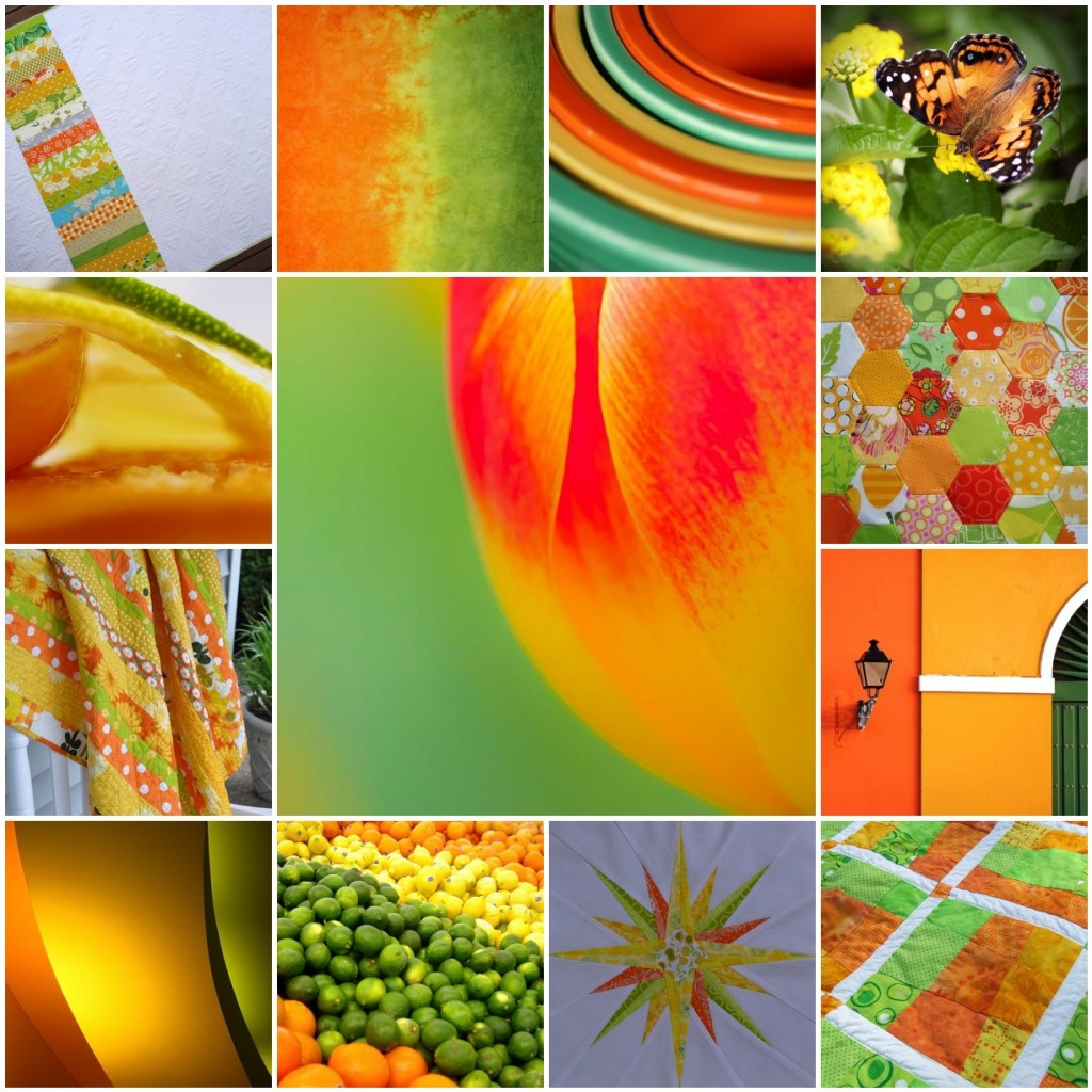 4x5 color inspiration mosaic_citrus